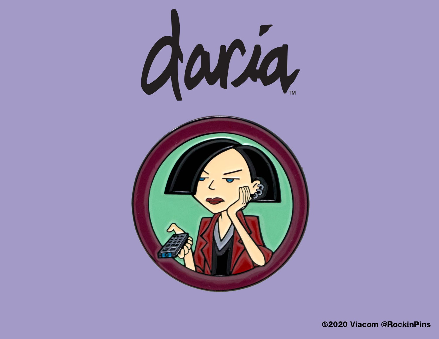 Image of Daria - Jane Lane Bored Enamel Pin