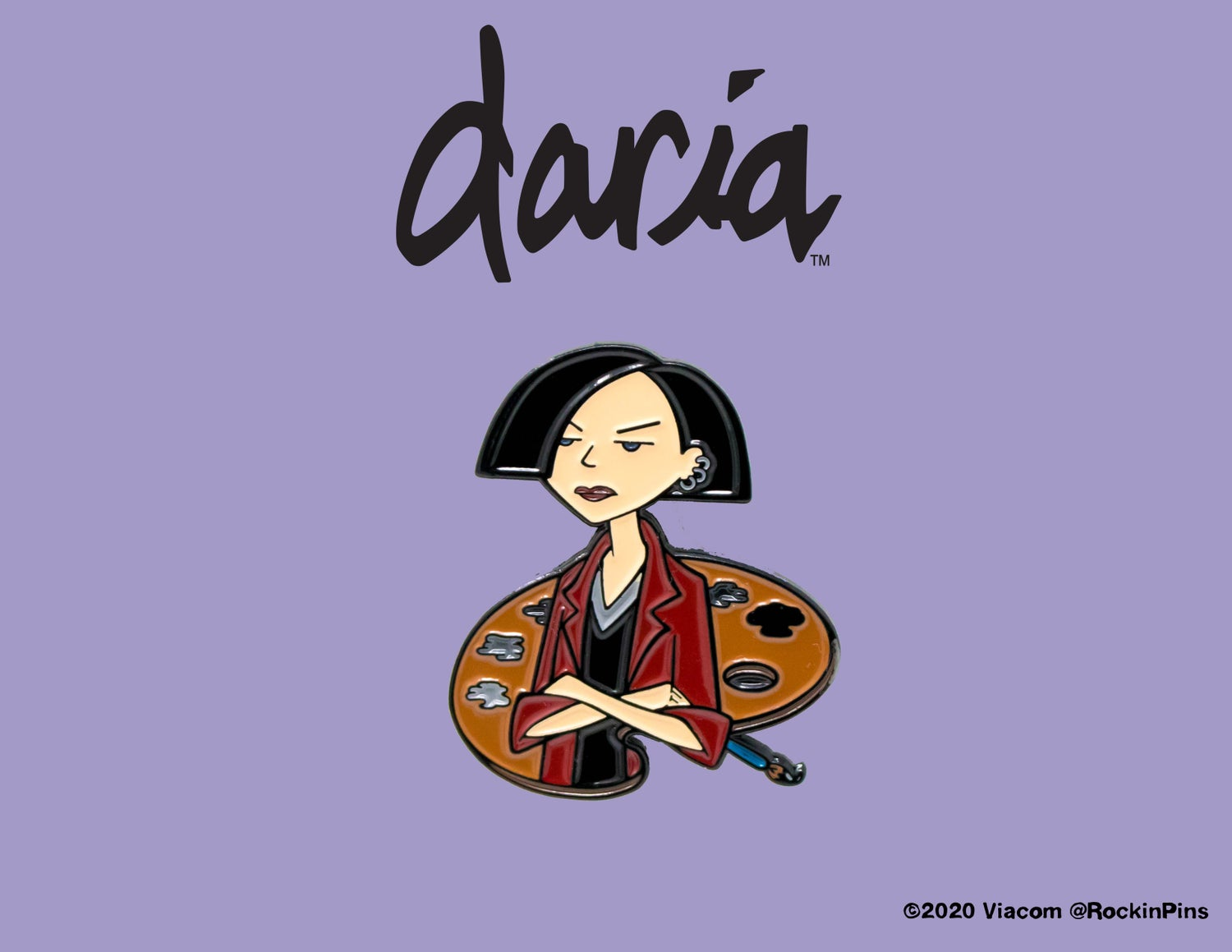 Image of Daria - Jane Lane Painter Enamel Pin