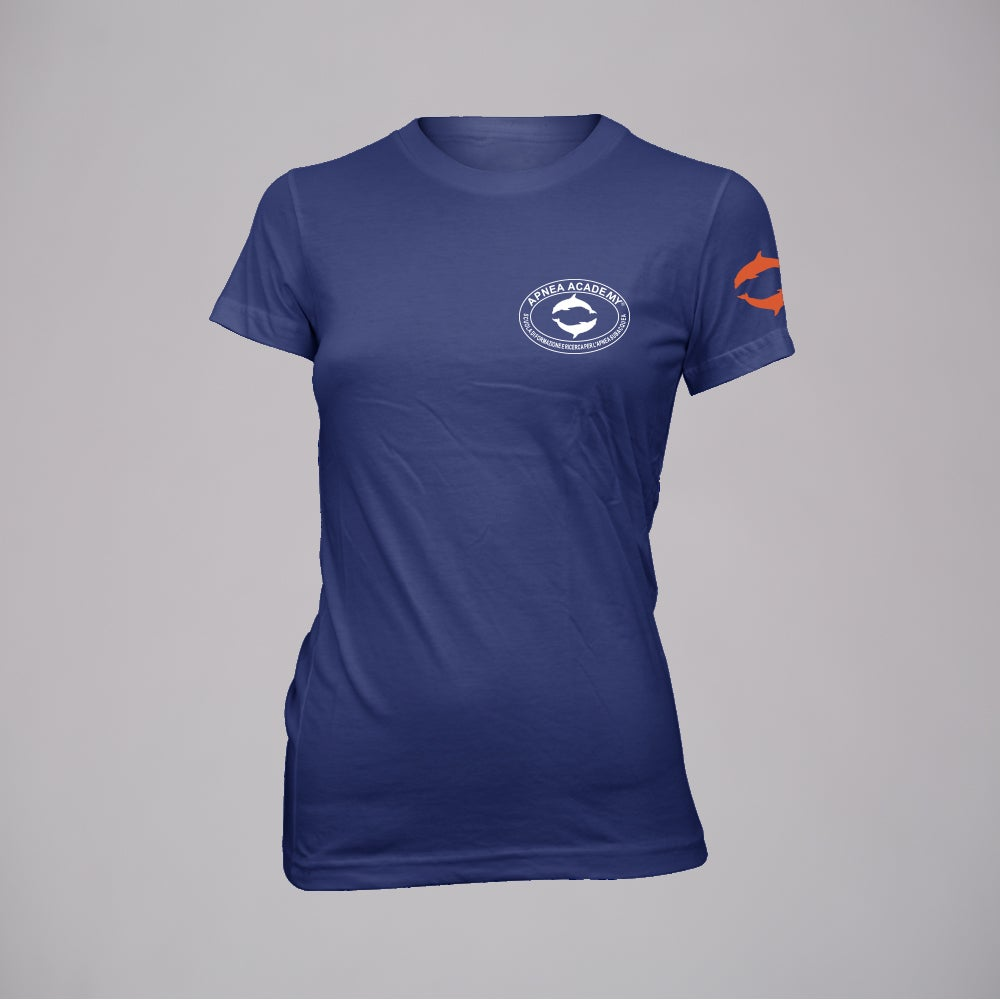 LOGO-T NAVY WOMAN
