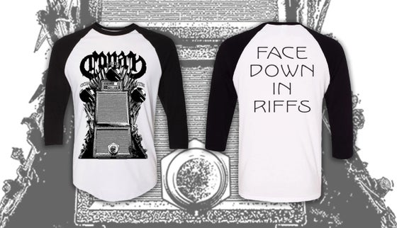 Image of FACE DOWN IN RIFFS BASEBALL SHIRT