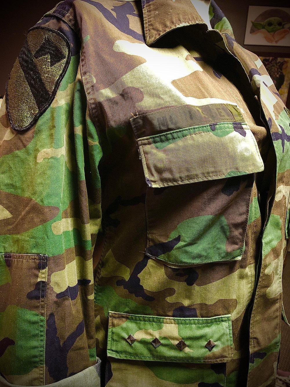 Ramones repurposed Army jacket