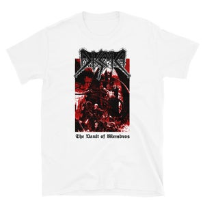 Image of DISMA - THE VAULT OF MEMBROS DEMO T-SHIRT White!