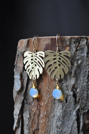 Monstera Opalite Dangles