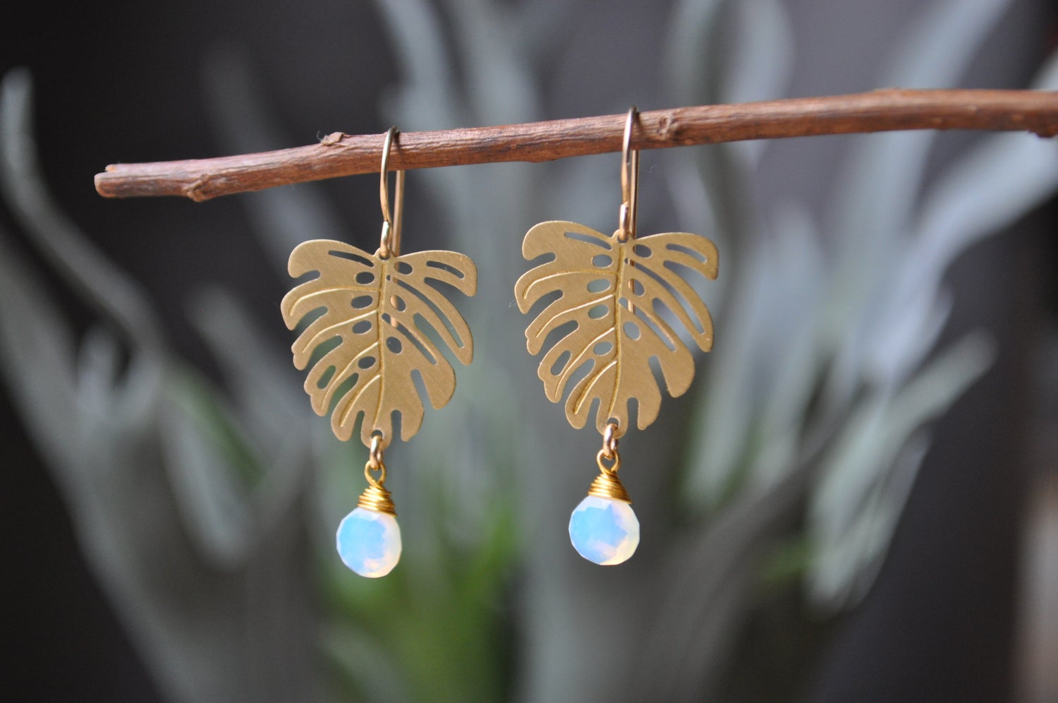 Image of Monstera Opalite Dangles