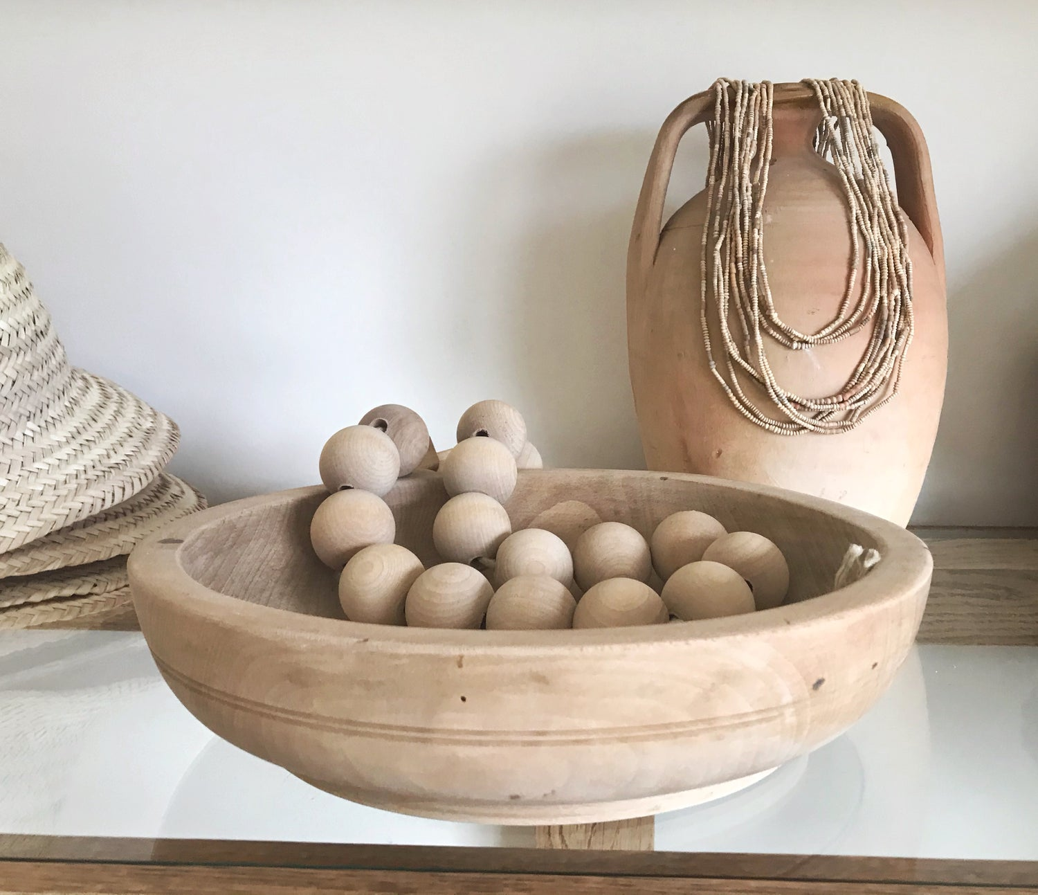 Image of Shallow Wooden Bowl #118
