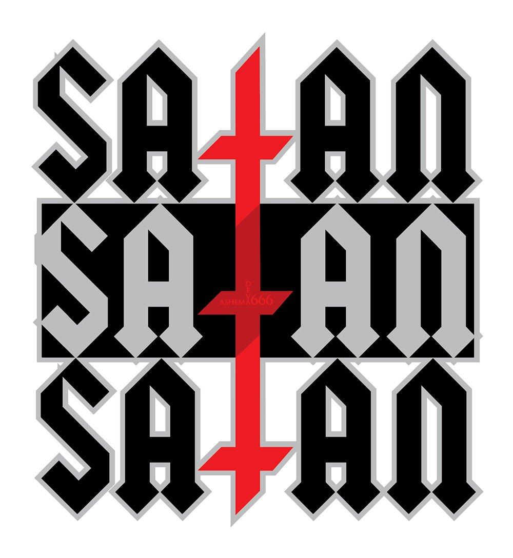 Triple Cross Satan Sticker