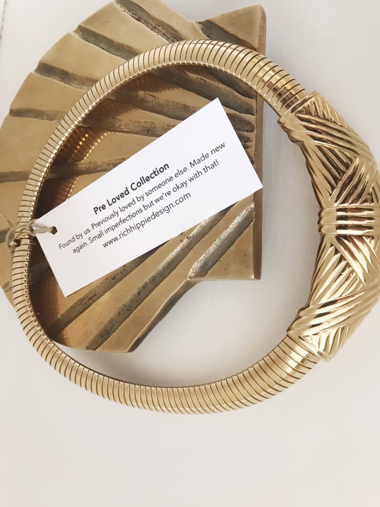 Image of Vintage Gold Collar Necklace