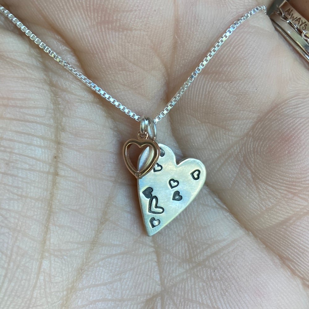 Image of Two hearts necklace