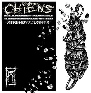 "Image of CHIENS ""Trendy Junky"" 12""EP - Crystal Clear Wax - Single Sided - Etched B-Side -"