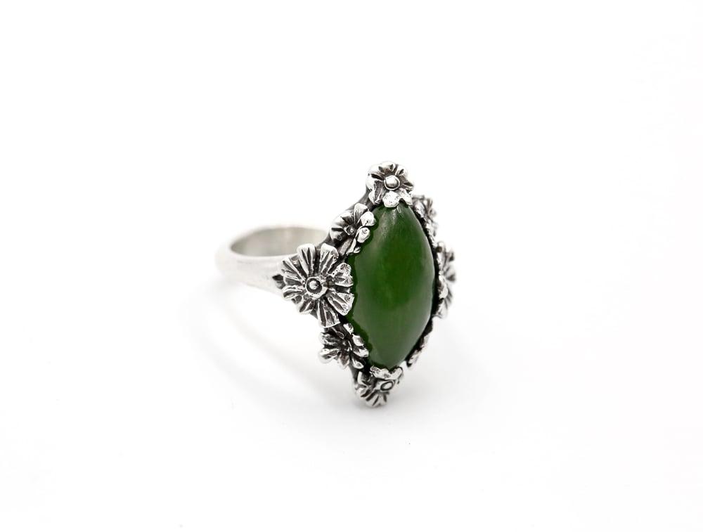 Image of Jade Flower Ring