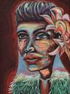 Lady Day Giclée Print Framed