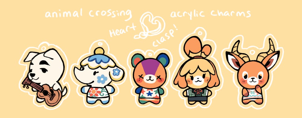 Image of **PREORDER** Animal Crossing Acrylic Charm