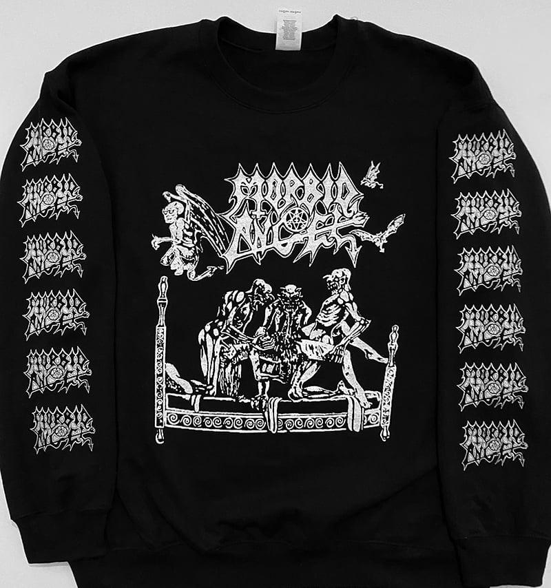 Image of Morbid Angel - Sweatshirt with Logo Sleeve Prints