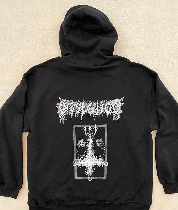 """Image of Dissection  """" Cross """"  Hooded Sweatshirt"""