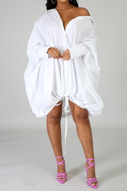 Image of Oversized Long Sleeve Dress