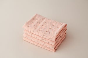Image of Daisy Pointelle Backdrop - peachy pink
