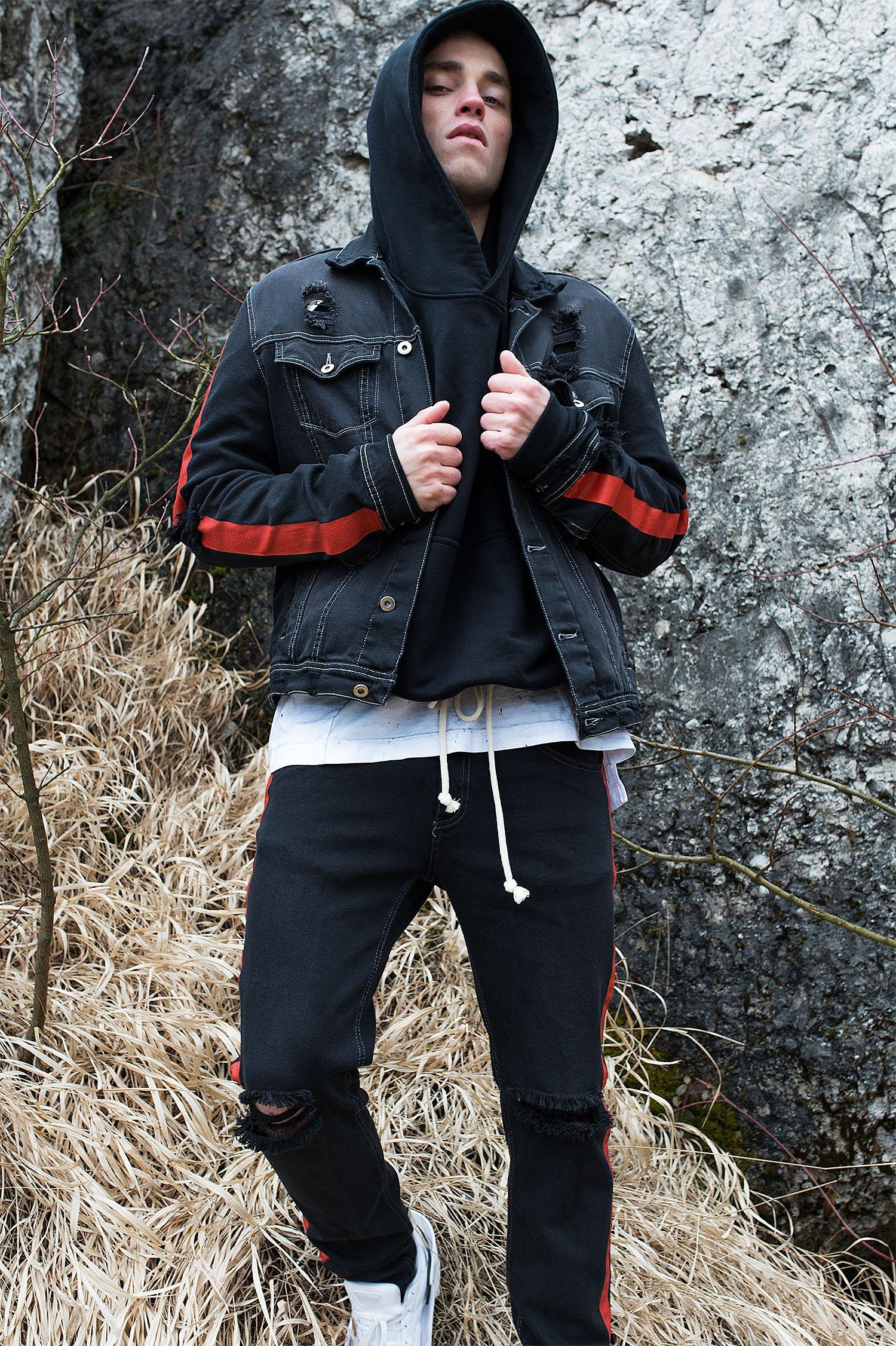 Image of U-F Studio Black Denim Jacket