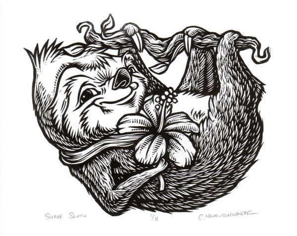 Image of Suave Sloth Print on Paper