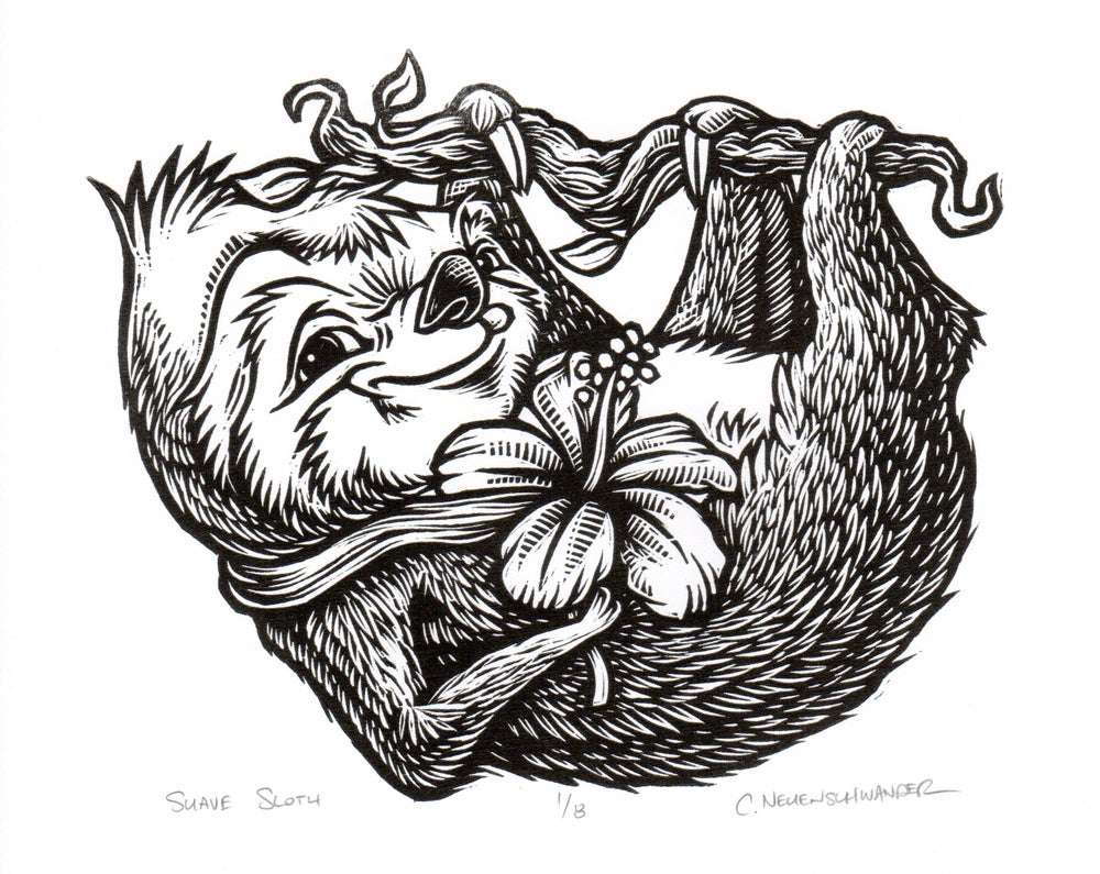 Suave Sloth Print on Paper