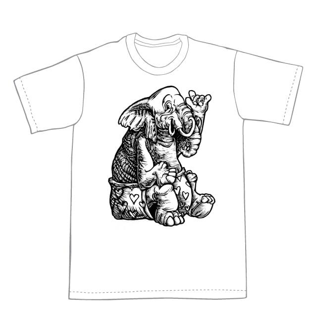 Image of Elephant Love T-shirt **FREE SHIPPING**