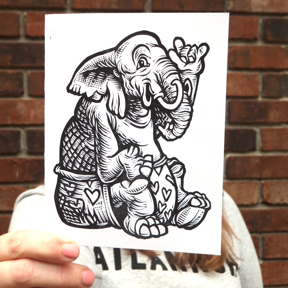 Love Elephant Valentines Card
