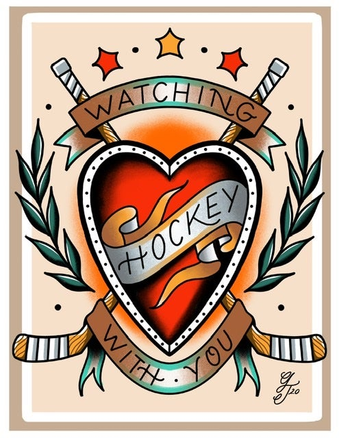 Image of Watching hockey with you 8.5x11 print