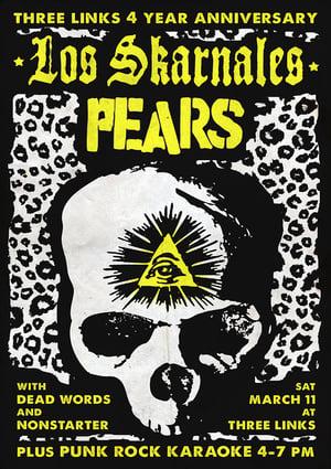Los Skarnales, PEARS 2017 (screen print)