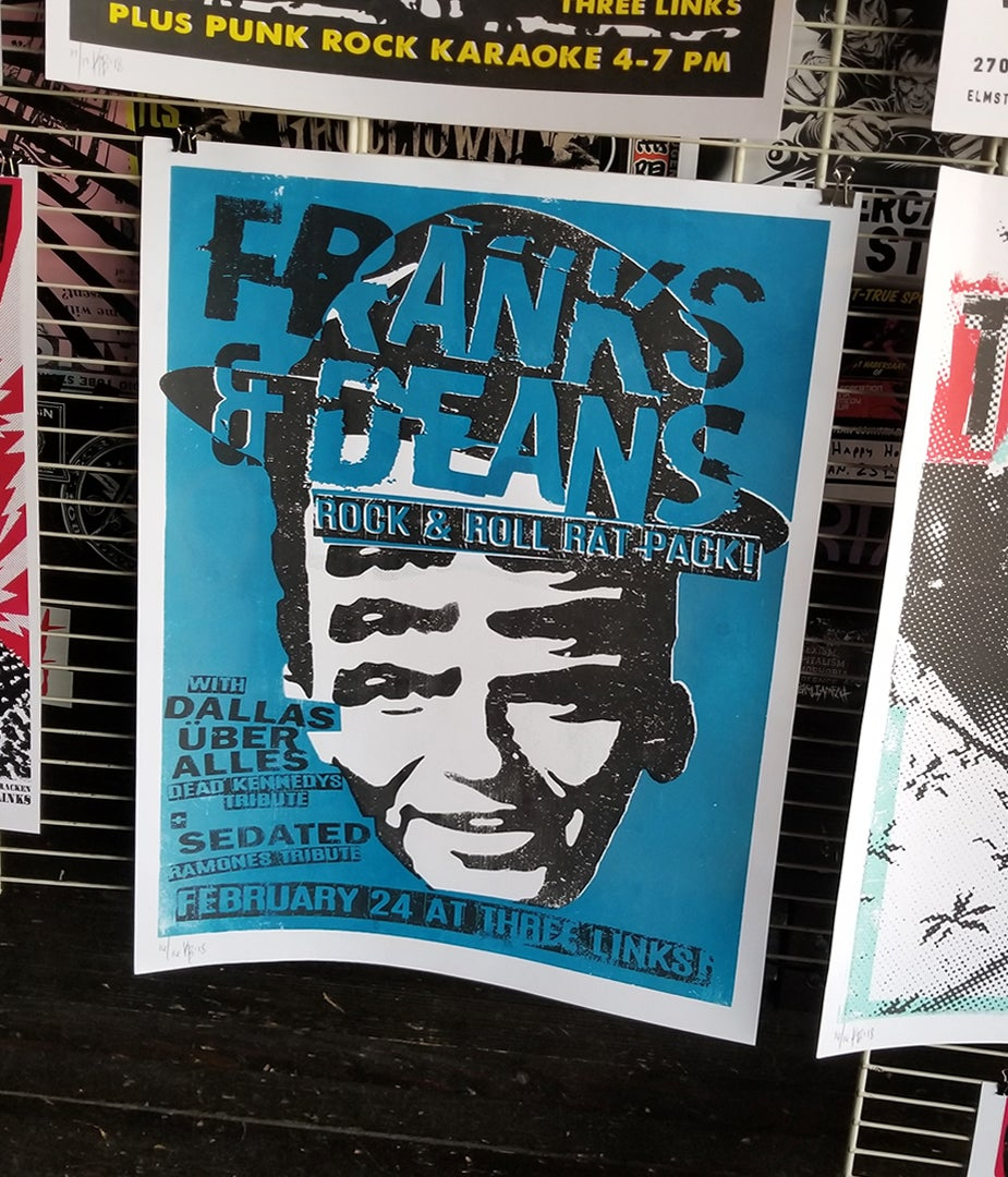 Franks & Deans 2016 (screen print)
