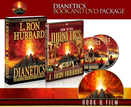 Image of Dianetics Book and DVD Package