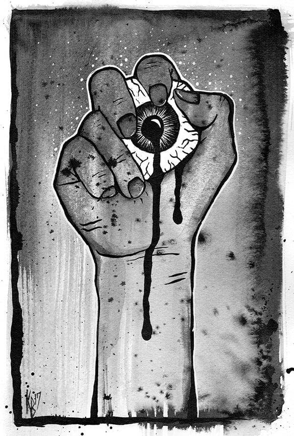 Migraine (watercolor reprint)