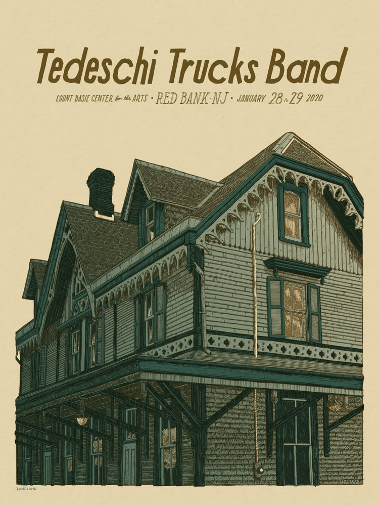 """Image of Tedeschi Trucks Band (Red Bank, N. J.) • L.E. Official Poster (18"""" x 24"""")"""
