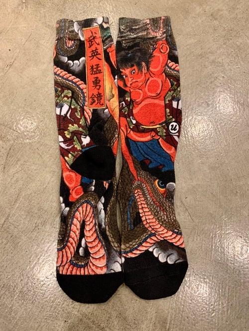 Image of KINTARO SNAKE SOCKS by UKIYOEMON