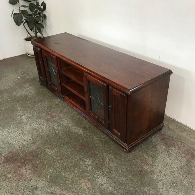 Image of STAINED PINE ENTERTAINMENT UNIT