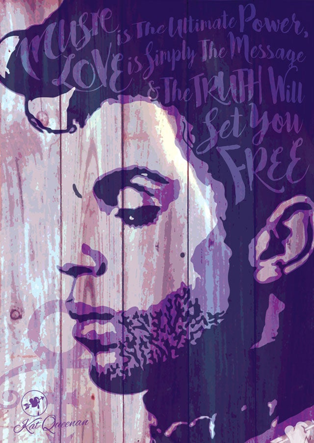 Image of Music Love And Truth - Prince - Stencil Art Print