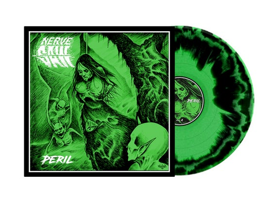 Image of Nerve Saw • Peril (Green | Black Swirl Vinyl)