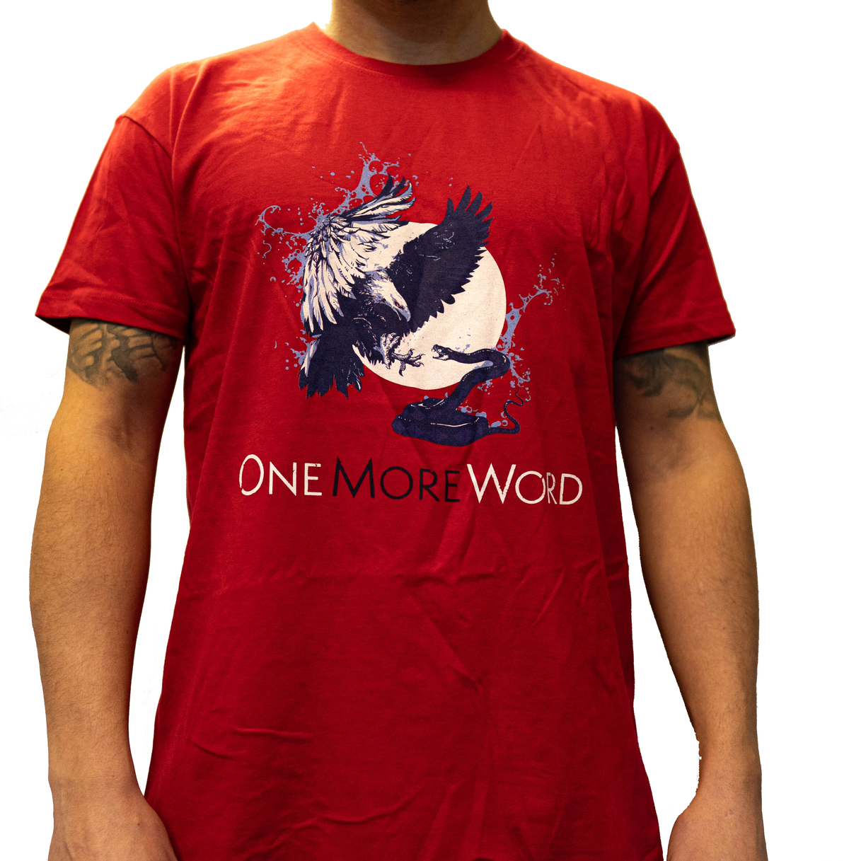 """EAGLE & SNAKE"" Blue on Red T-Shirt"