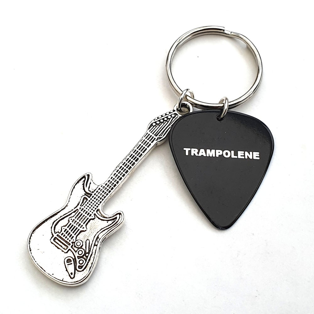 Image of TRAMPOLENE plectrum & guitar keyring