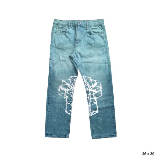 Image of HYPERCUBE JEAN DYED