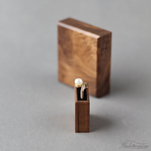 Image of Slim square engagement ring box