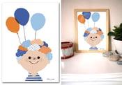 Image of Affiche {Les ballons d'Hugo}