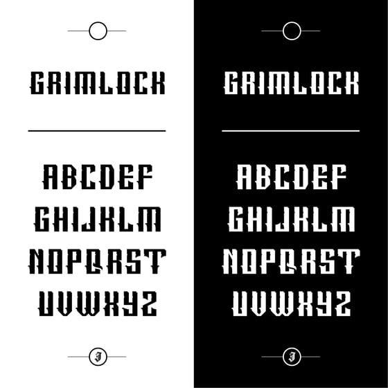 Image of Grimlock Font