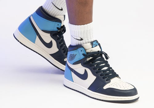 Image of NIKE AIR JORDAN 1 HIGH OG OBSIDIAN UNC 555088-140