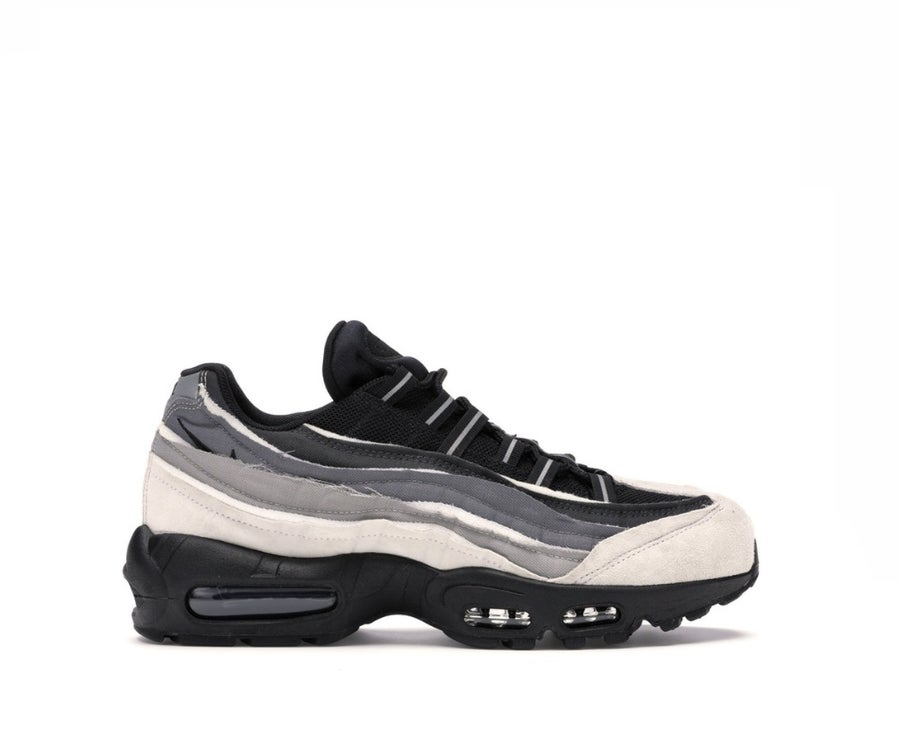 Image of NIKE COMME DES GARCON AIR MAX 95 BLACK GREY CU8406-101