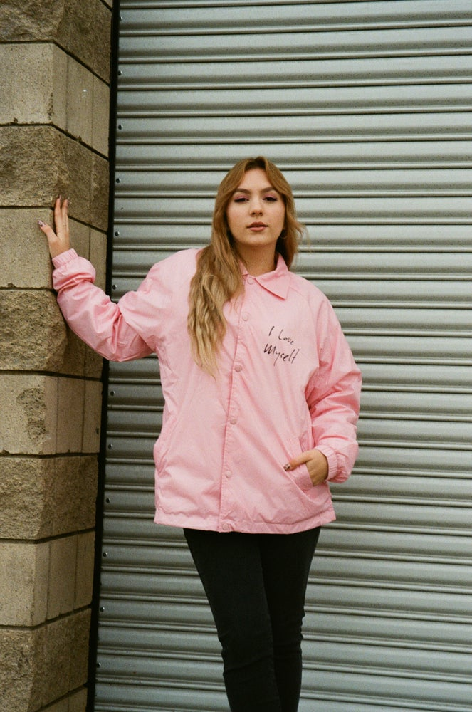 Image of Pink ILoveMyself Coach Jacket