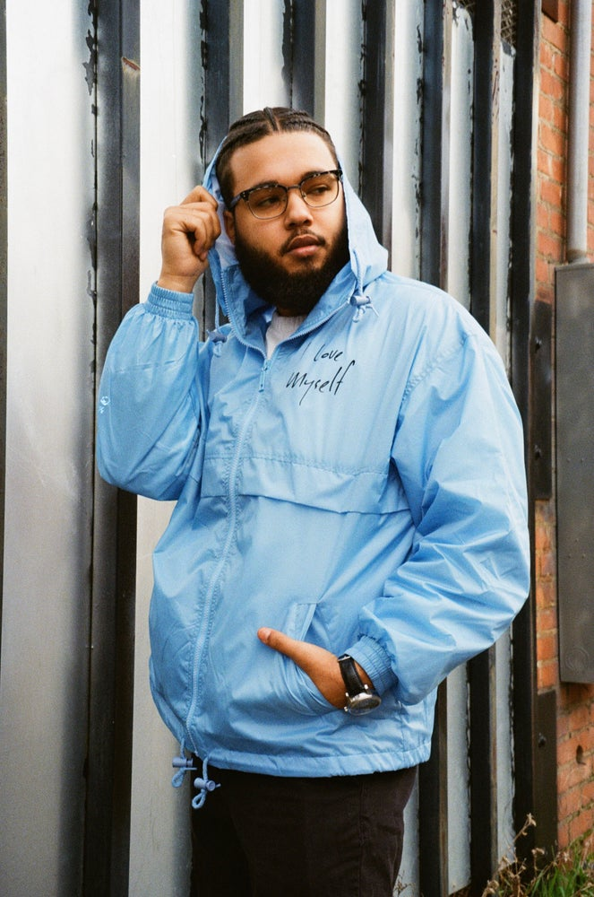 Image of Baby Blue ILoveMyself Windbreaker