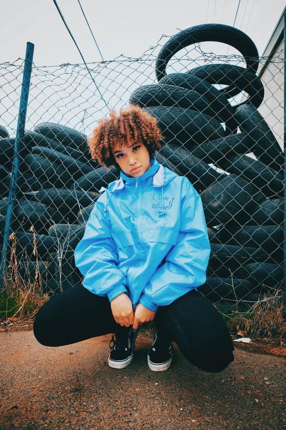 Image of Baby Blue ILoveMyself Windbreaker