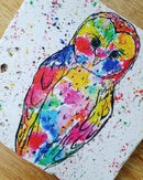 Image 1 of 'Rainbow Owl' Stone Coaster