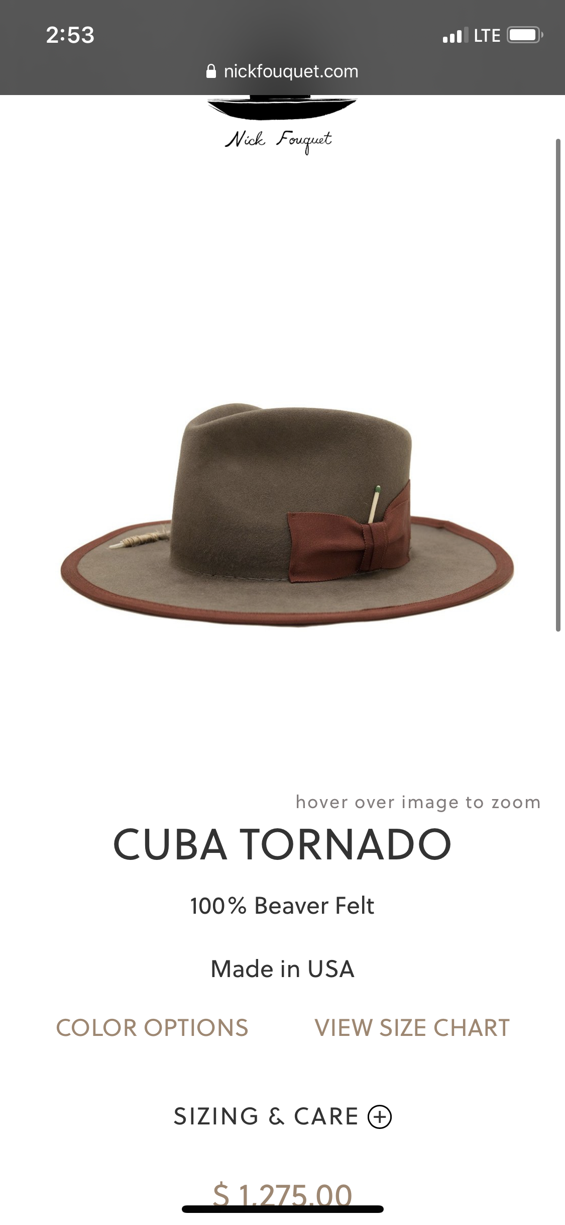 Image of NICK FOUQUET HAT