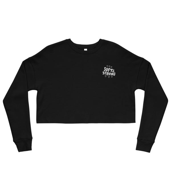 Image of Soft & Strong Embroidered Crop Sweatshirt