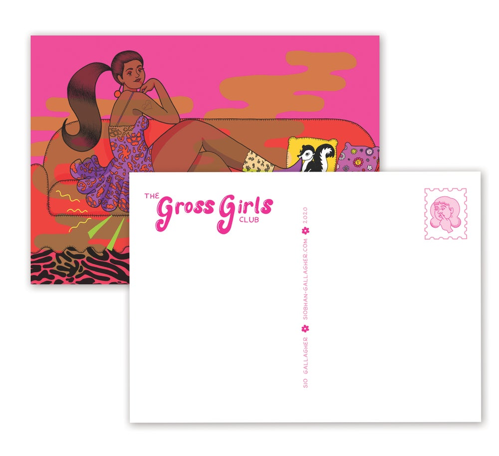 Image of Gross Girls postcards